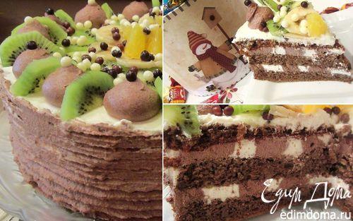 Рецепт Детский тортик с фруктами без глютена и муки (Kinder torta)
