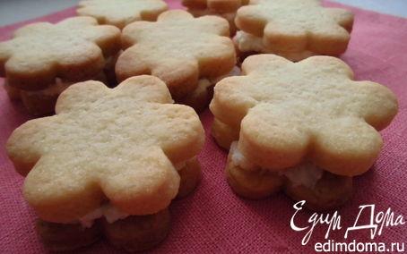 Рецепт Ванильное печенье с творожной начинкой
