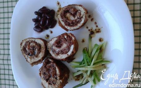 Рецепт Куриная грудка, фаршированная фасолью с беконом