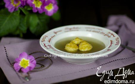 Рецепт Мясной бульон с пряными сырными эклерами