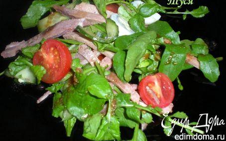Рецепт Салат с телячьим языком и руколой под азиатским соусом