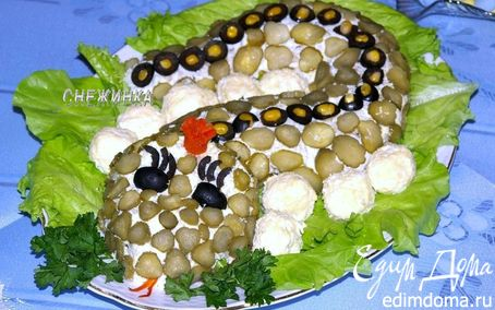 Рецепт Салат «Змейка на берегу»