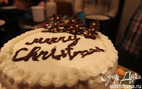 Рецепт Рождественский торт. Бисквит в мультиварке в мультиварке