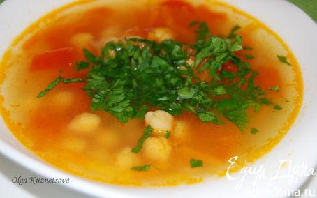 Рецепт Суп из нута и помидоров