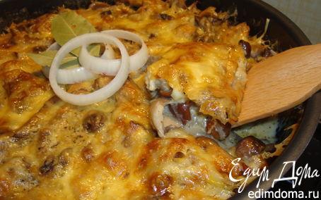 Рецепт Грибная запеканка с сыром