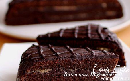"""Рецепт Шоколадно-ореховый экспериментальный торт """"Паве"""""""