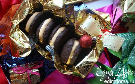 Рецепт Шоколадные печенья вупи-куки с облепиховым суфле