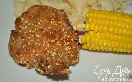 Рецепт Куриные бедрышки в кунжуте