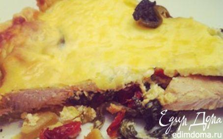 Рецепт Киш с индейкой, шпинатом и рикоттой