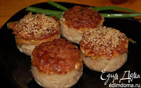 Рецепт Бочки и грибочки из куриного фарша с начинкой