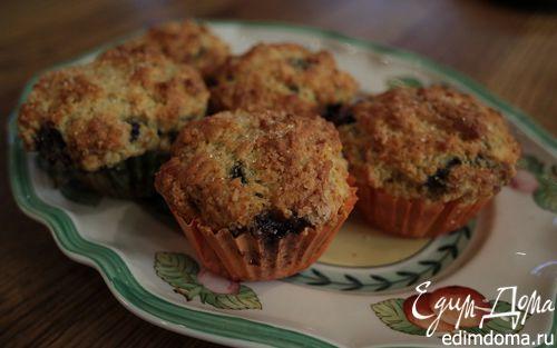 Рецепт Сахарные маффины с черничным джемом