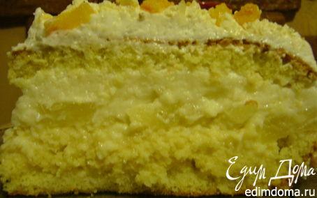 Рецепт Легкий тортик (Pina Colada)