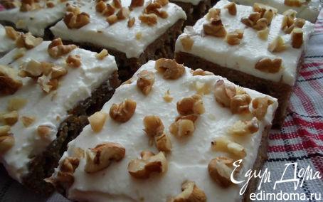 Рецепт Пряный тыквенный пирог с творожным кремом