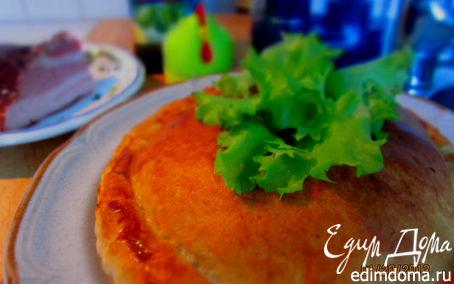 Рецепт пирог с копченым салом