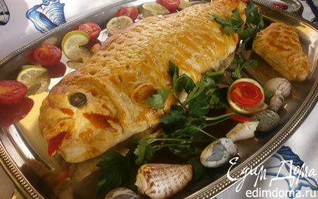 Рецепт Форель, запеченная в тесте + МК по разделке рыбы на филе