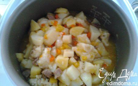 Рецепт Говядина с овощами в мультиварке в мультиварке