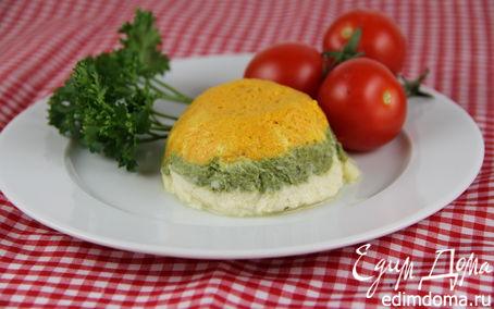 Рецепт Трехцветный овощной мусс в пароварке