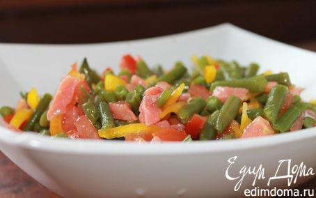 Рецепт Фасолевый салат с лососем