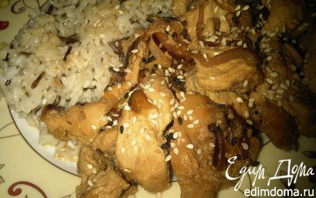 Рецепт Индейка с соевым соусом, медом и имбирем