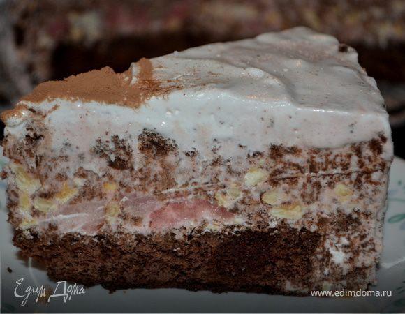Шоколадный торт-мороженое с маршмэллоу и фундуком