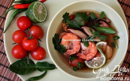"""Рецепт – Тайский суп """"Том Ям"""""""