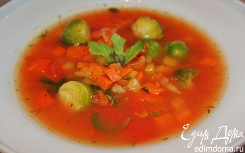Рецепт Томатный суп с брюссельской капустой и репой