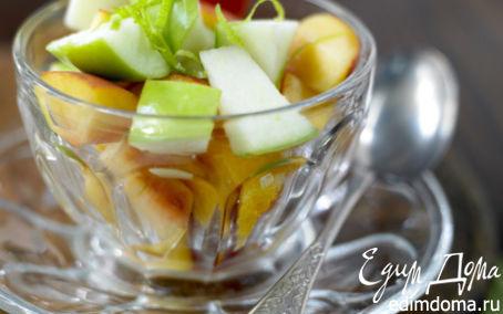 Рецепт Салат из персиков и груш
