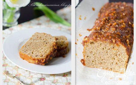 Рецепт Нежный ореховый кекс с карамельной глазурью