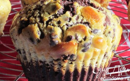 Рецепт Шоколадные маффины с миндалем и сливочным сыром