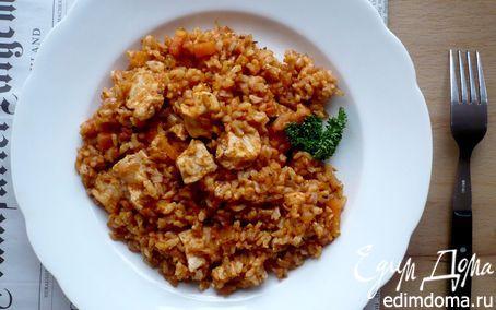 Рецепт Филе куриной грудки, запеченное с рисом и овощами «Скорый поезд на Луизиану»