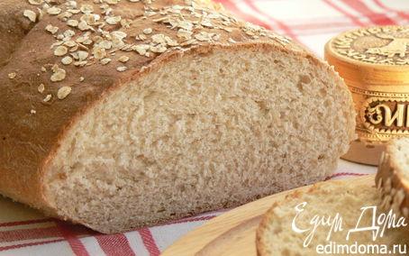 Рецепт Хлеб с овсяными хлопьями и ц/з мукой