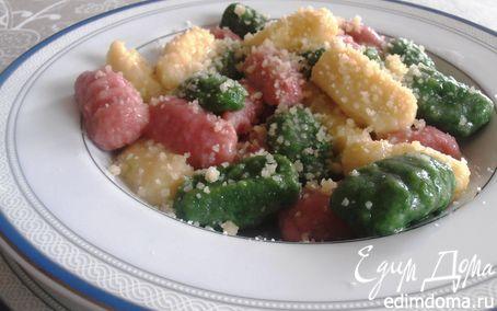 Рецепт Итальянские трехцветные ньокки (картофельные клецки)
