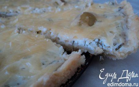 Рецепт Открытый пирог с двумя видами сыра