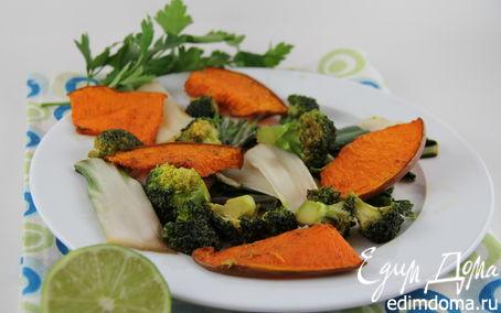 Рецепт Запеченная пряная тыква с овощами в китайском стиле