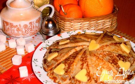 Рецепт Тонкие блинчики с сырной прослоечкой