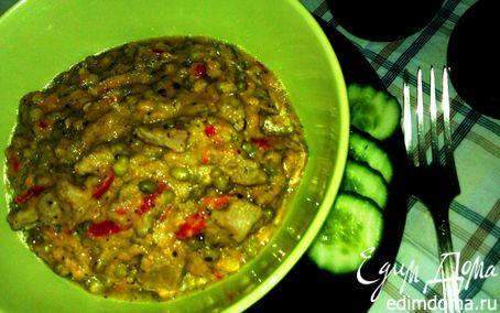 Рецепт Сочная шейка с машем, красным перцем и базиликом в нежном соусе