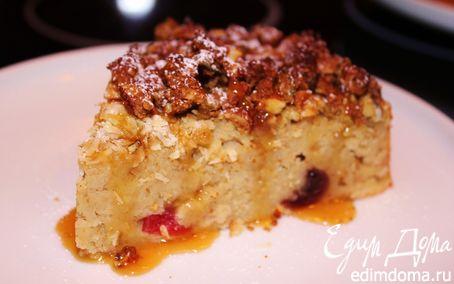 Рецепт Овсяно-яблочный пирог с ореховым штрейзелем с тыквенными семечками