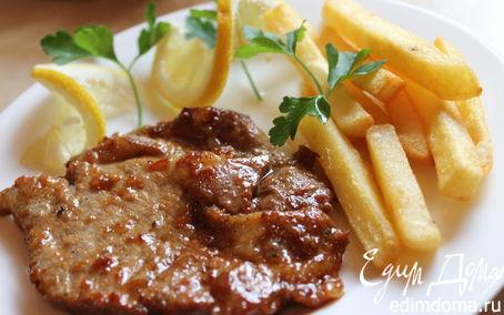 Рецепт Свиной стейк в апельсиновом маринаде