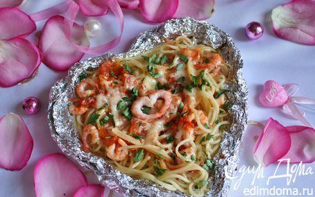 Рецепт Запеченная паста с креветками