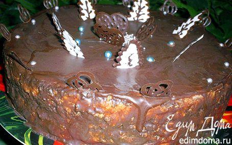 Рецепт Нежнейший маковый торт с заварным сливочным кремом