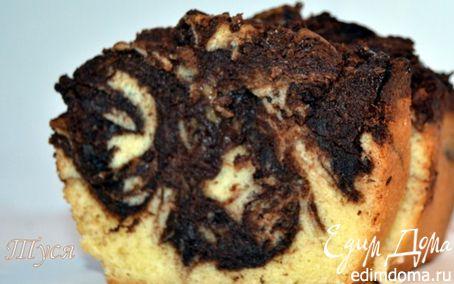 Рецепт Мраморный пирог с шоколадом от Поля Бокюза