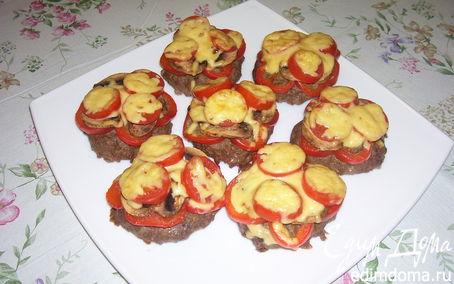 Рецепт Запеченные котлеты с овощами и с сыром