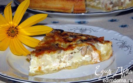Рецепт Лоранский пирог с курицей, грибами и цветной капустой
