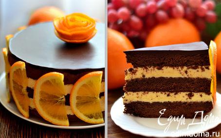 """Рецепт Шоколадно-апельсиновый торт """"Зима, до встречи!"""""""