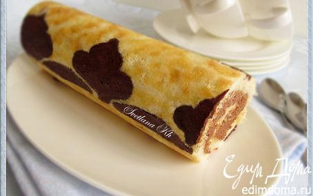 Рецепт Рулет с шоколадным узором