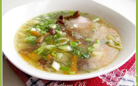 Рецепт Суп с курицей и грибами