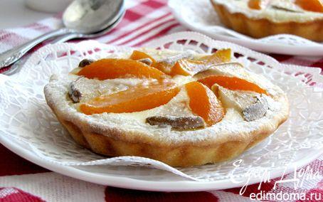 Рецепт Корзиночки с персиками, грушами и сырным кремом