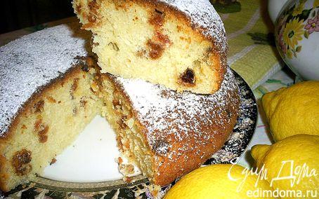 Рецепт Ароматный лимонный кекс с изюмом в мультиварке