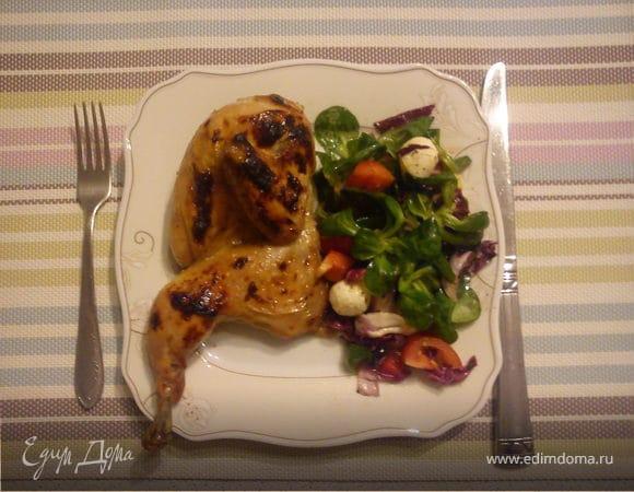 Цыплята с фруктовой глазурью