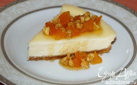 Рецепт Чизкейк со сметанным кремом, курагой и медом